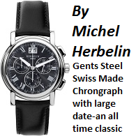 Gents Michel Herbelin Chronograph on Strap