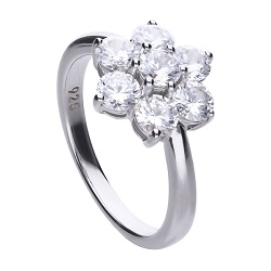 £69 Diamonfire CZ Silver Cluster Ring