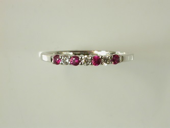 69939 - 18ct White Gold Ruby & Diamond set Eternity ring