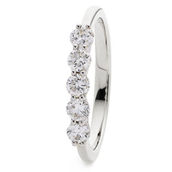 69876 - 18ct White Gold Diamond set Eternity ring